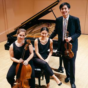 Yvonne Chen (piano), Dian Zhang (violin), and Clare Monfredo (cello)