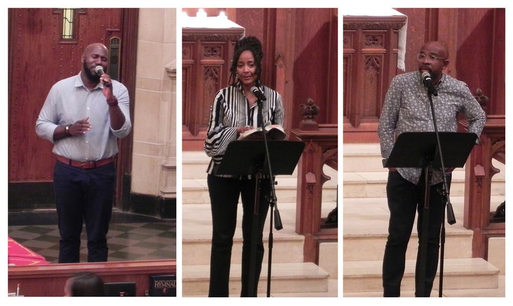 Left to right: David Michael Wyatt (Minister of Music, St. John's), Pastor Juanita Rasmus (St. John's) and Pastor Rudy Rasmus (St. John's)