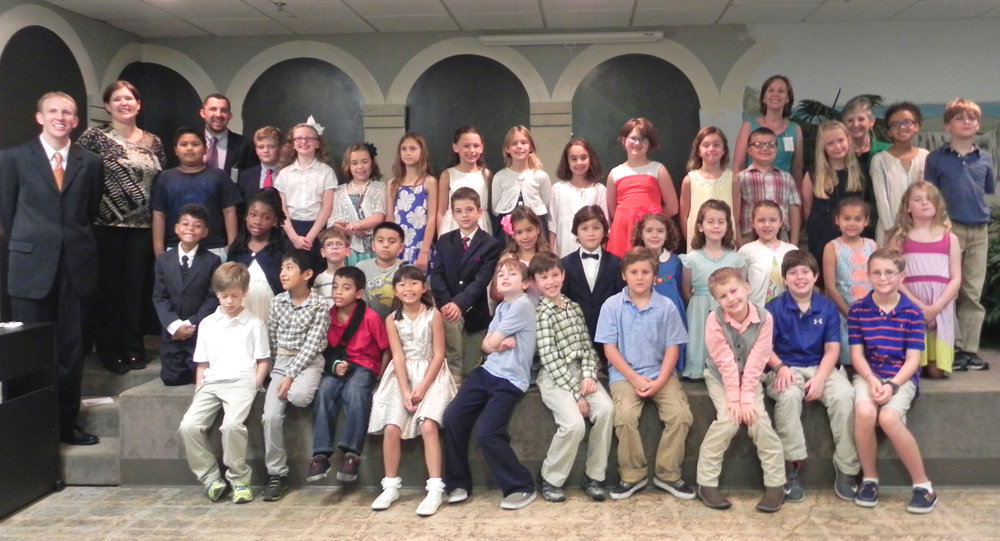 St. Paul's third graders 2015