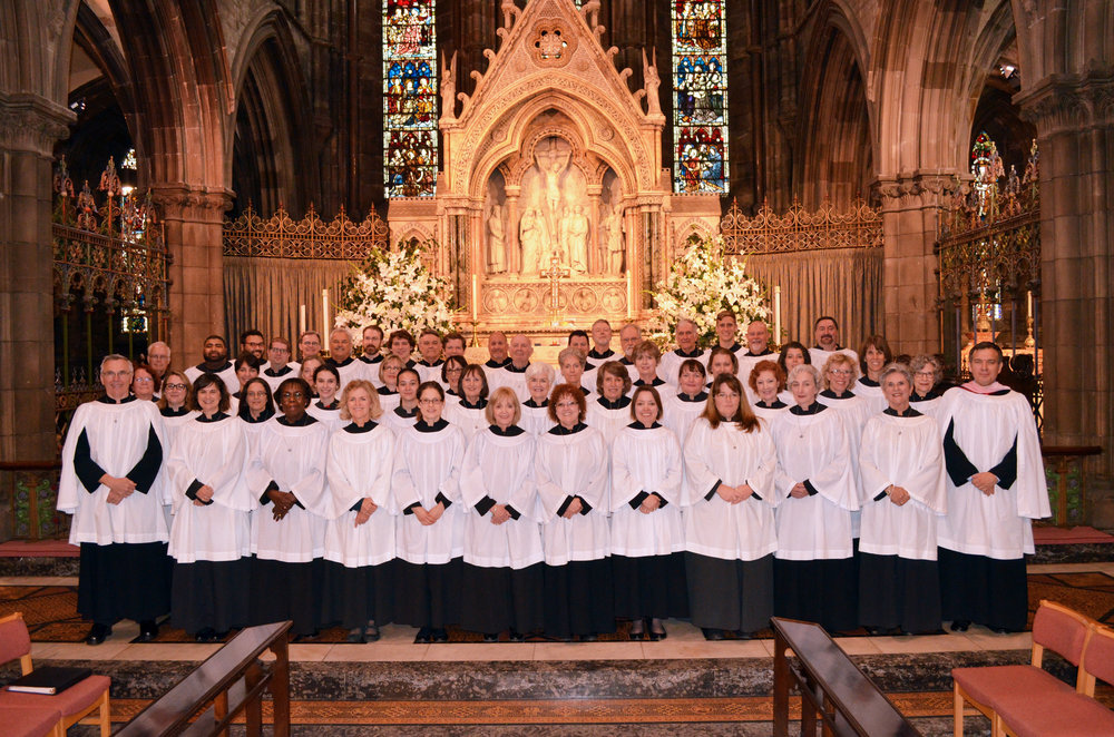 St. Paul's Choir at St. Mary's (Episcopal) Cathedral. July 2016.