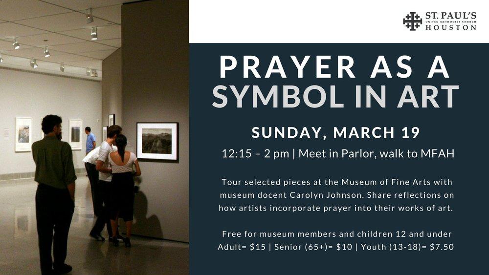 Prayer As A Symbol In Art St Pauls United Methodist Church