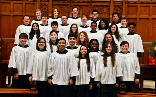 Choral Scholars, 2016-17. Photograph by Sandy Bankston