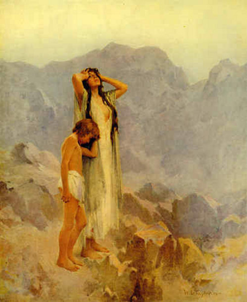 Hagar and Ishmael in the Wilderness, W. L. Taylor