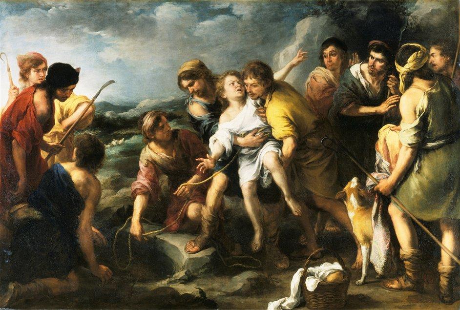 """Joseph and his Brethren"" by Bartolomé-Esteban Murillo (oil on canvas,c.1670)"