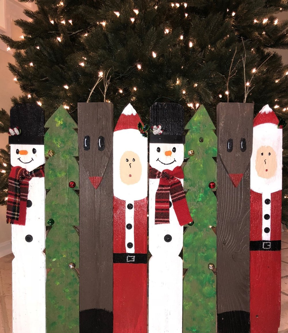 Wooden Chrsitmas fence lovingly hand-made by St. Paul's Youth.