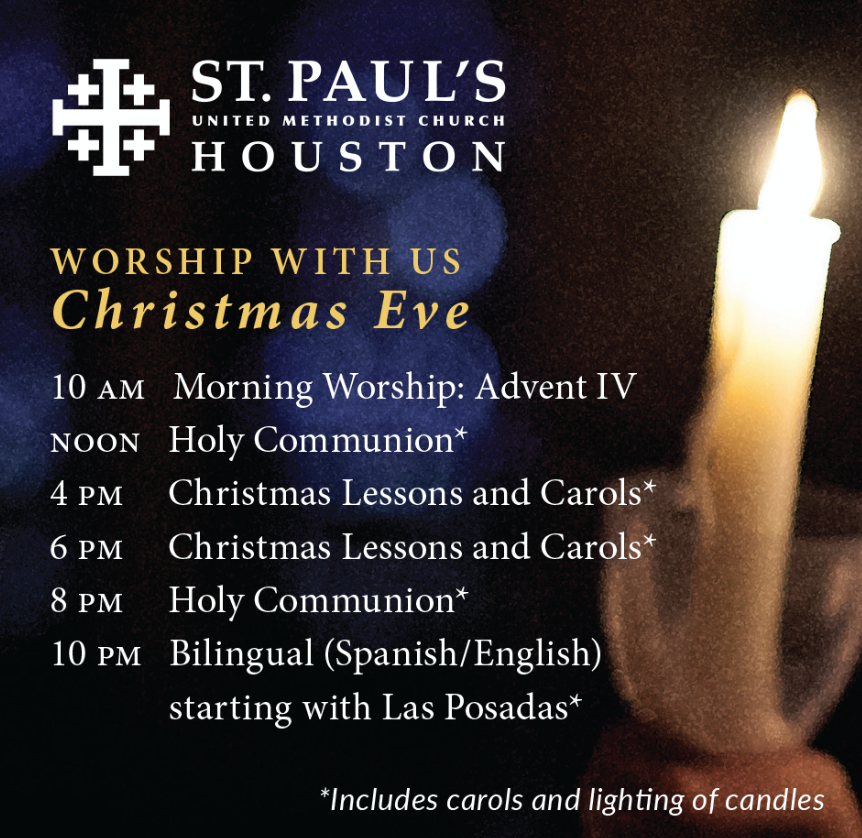 Worship on Christmas Eve — St  Paul's United Methodist Church
