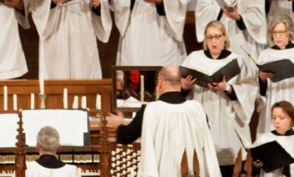 Kirby Traylor directs St. Paul's Choir