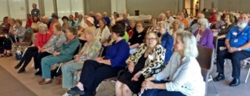 St. Paul's Primetimers listen to Dr. John Lienhard, creator of Houston Public Media's Engines of our Ingenuity