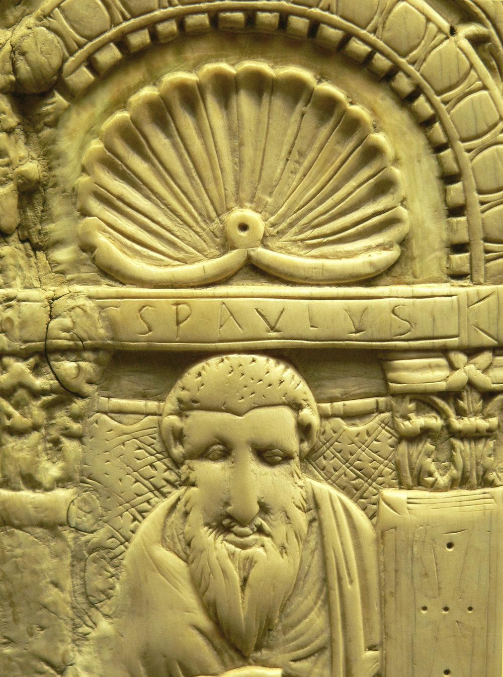 Apostle Paul, 7th century carving