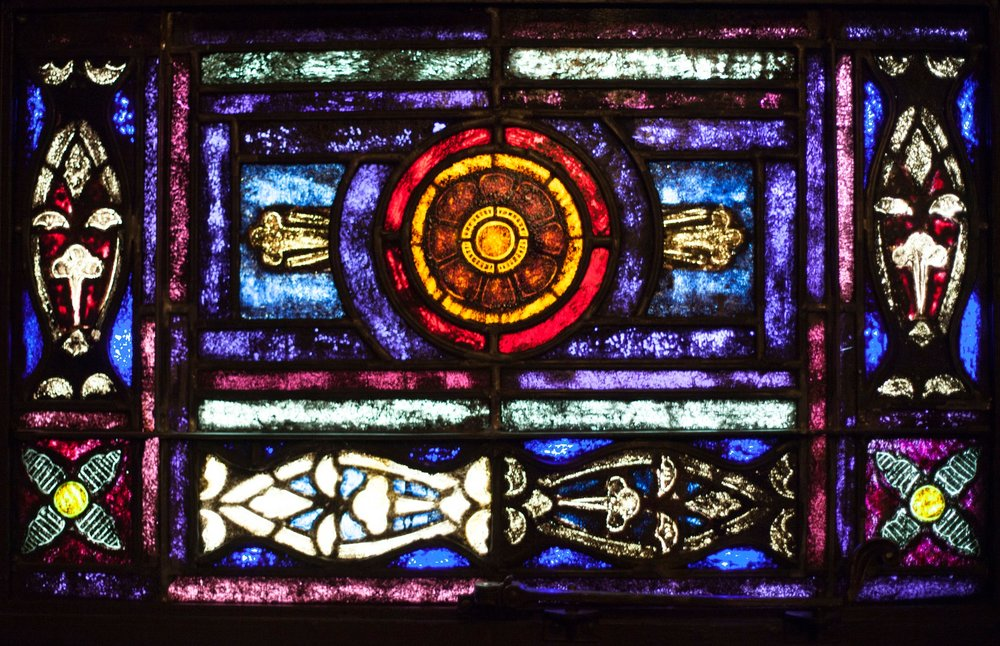 St. Paul's UMC Houston stained glass window (photo by Kelsey Johnson)