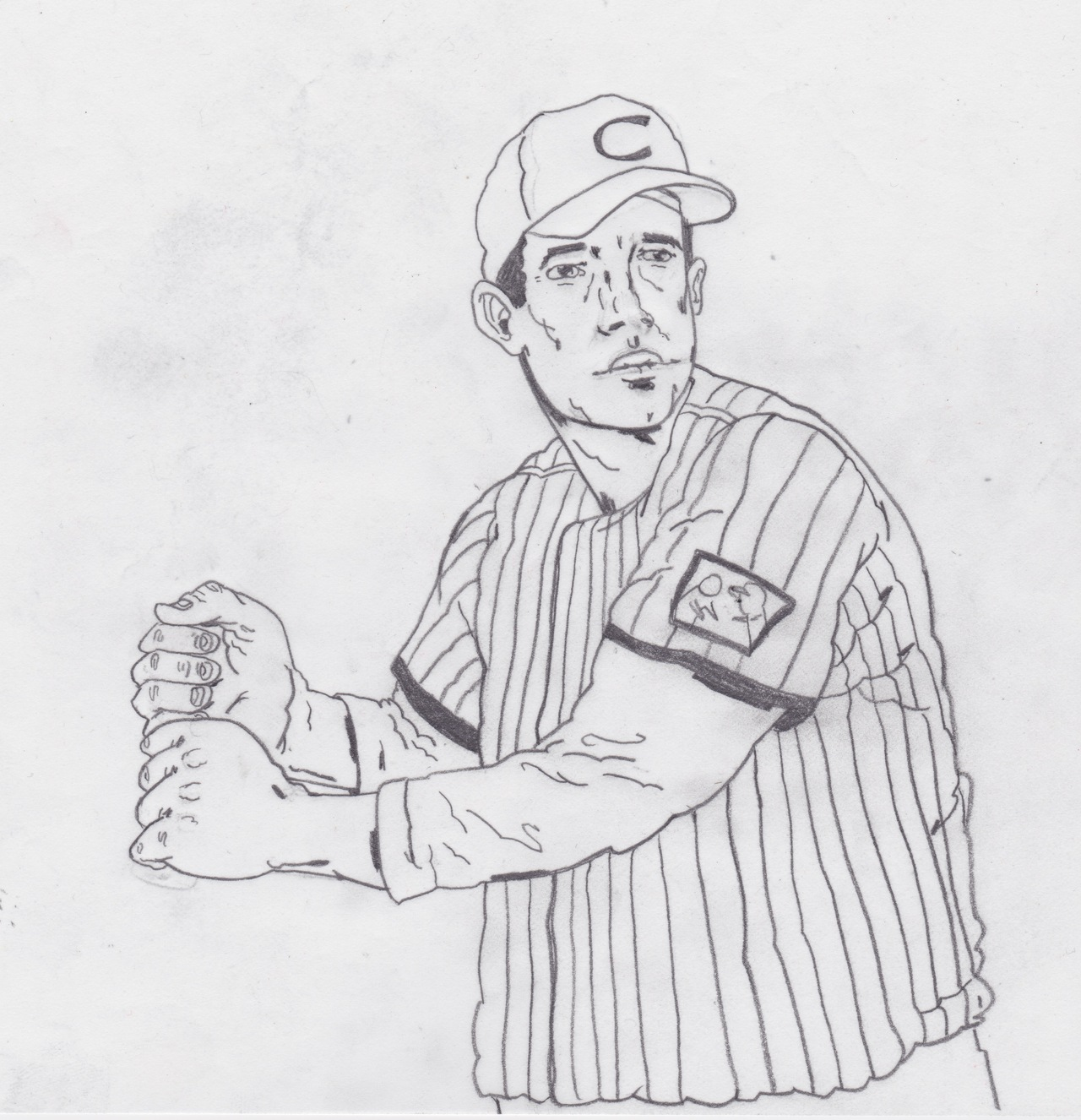 Baseball illustration sketch