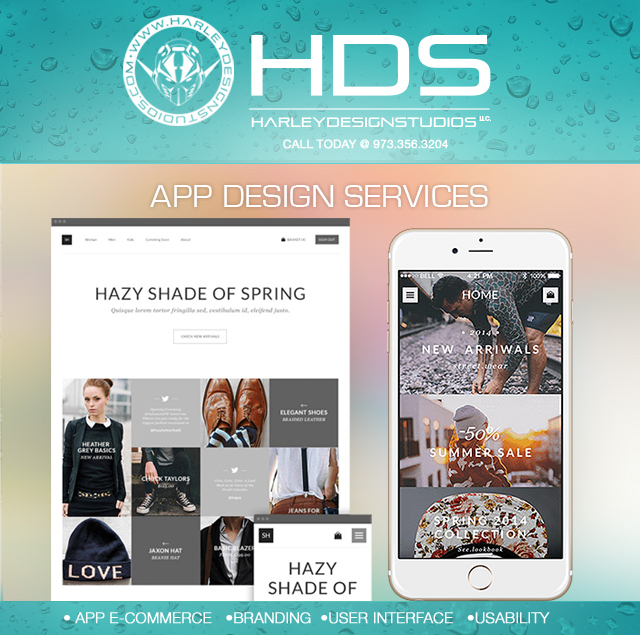 HARLEY DESIGN STUDIOS, LLC.  #GraphicDesign #WebDesign #SocialMedia #WebBanners #EmailBlast #LogoDesign #PhotoRetouching #Illustrations #AppDesign #Marketing #Advertisement #Printing #CustomDesigns and much more.  CALL TODAY FOR FREE CONSULTATION AT 973-356-3204or Visit www.HarleyDesignStudios.com or Email: Harley@HarleyDesignStudios.com