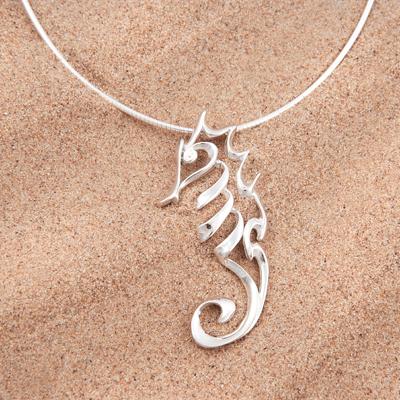 Sterling silver seahorse pendant scubatogs sterling silver seahorse pendantg aloadofball Images