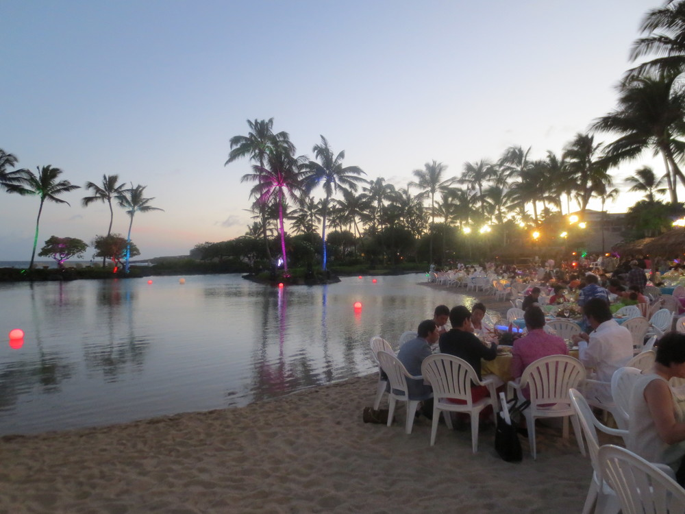 Magical farewell dinner on the beach