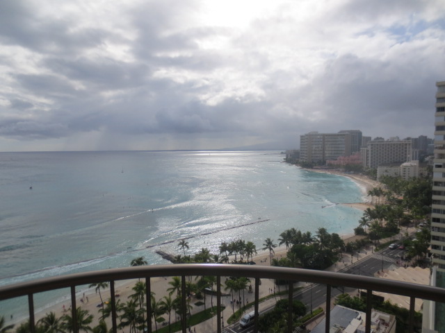 Waikiki beach - view from one of the rooms