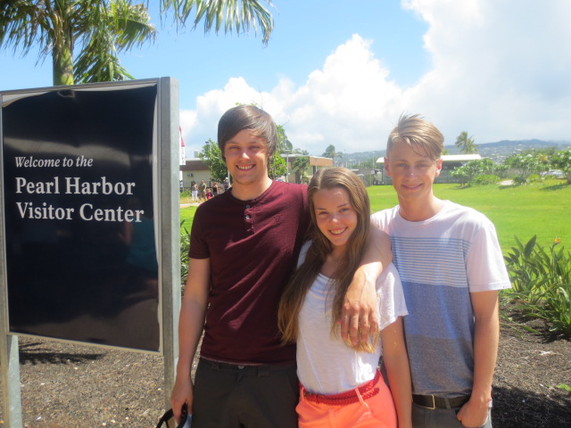 The siblings at Pearl Harbor