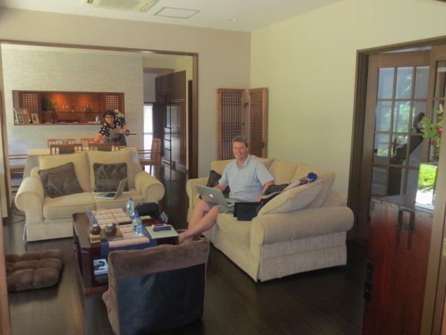 Benni in the beautiful house of Peter and Kaoru in Tokyo