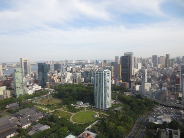 View over Tokyo from the Tokyo tower.