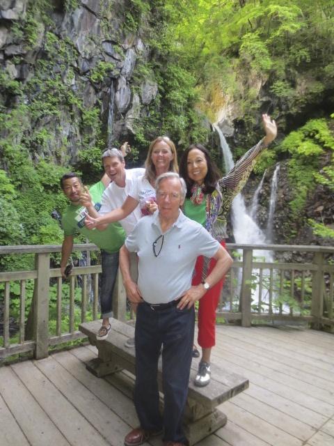 With Masa, Kaoru and Peter at Urami falls