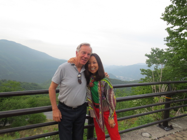 Peter and Kaoru on top of the Romantic Road