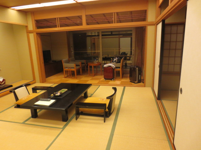 Our living room at a traditional Japanese Inn