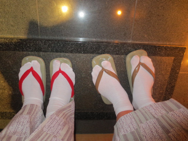 Fancy footwear for dinner