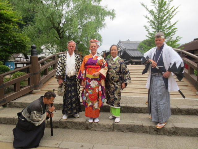 What a fun day - thanks to Masa and his friend (the owner of the Edo park)