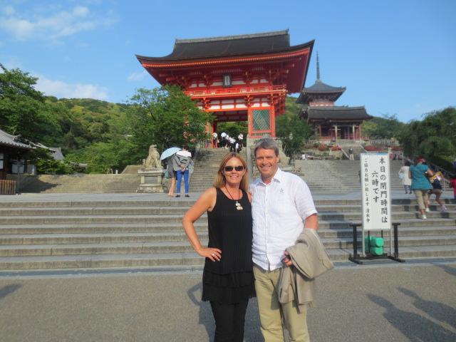 At a beautiful shrine in Osaka