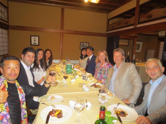 Dinner with fantastic friends in Nagoya