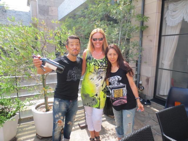 BBQ at Casa de Masa - Gudrun with Masa and Youko