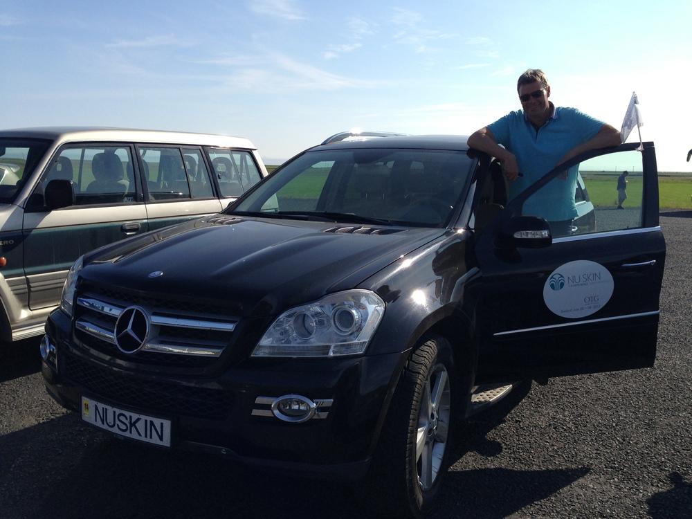 "Benedikt enjoys his ""NUSKIN"" ride"
