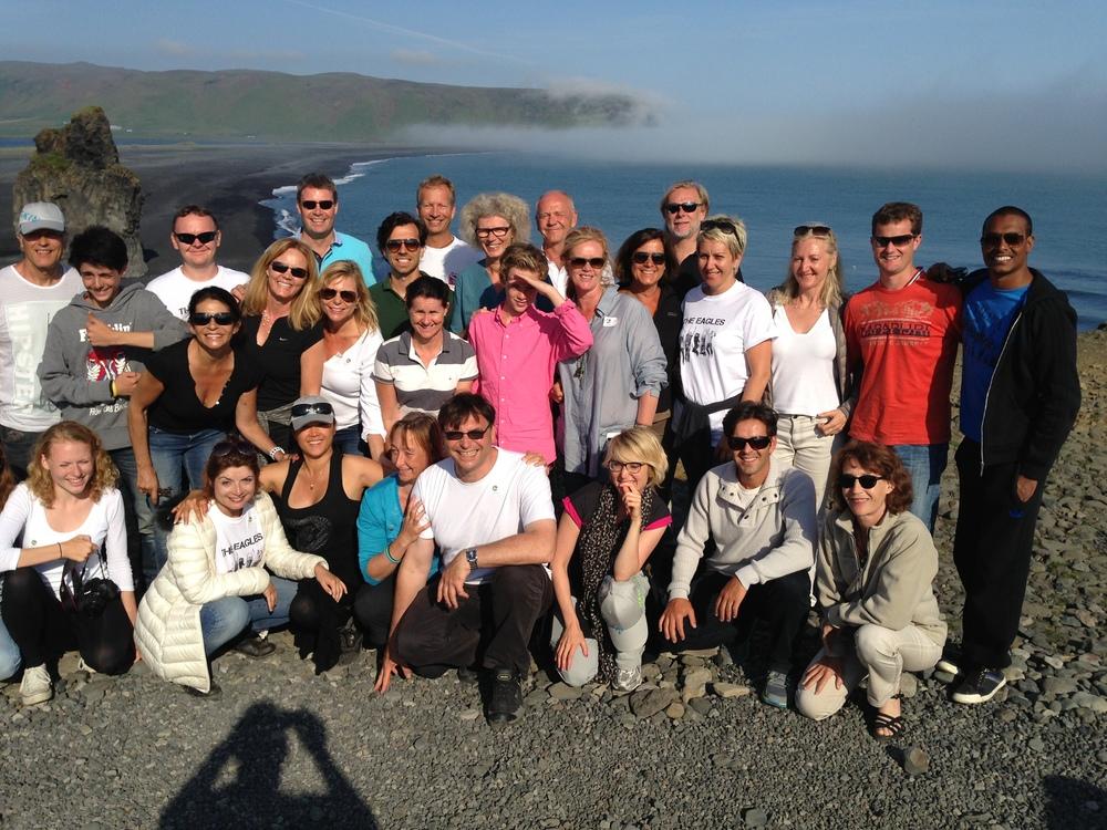 Group photo at Dyrhólaey