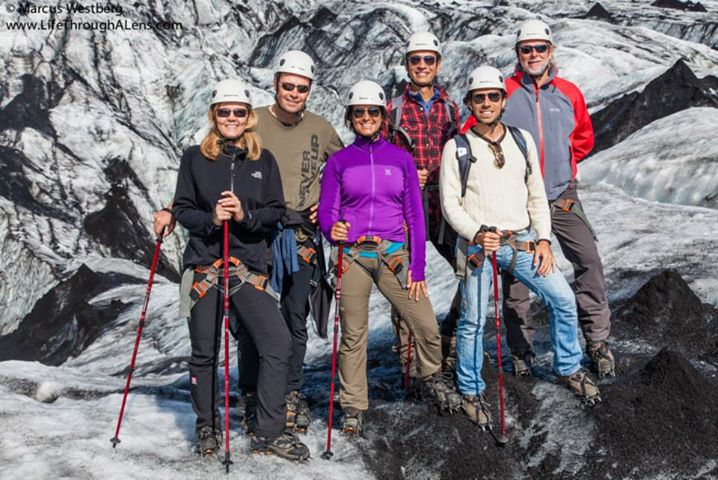 OTG West Europe Board members on Sólheimajökull