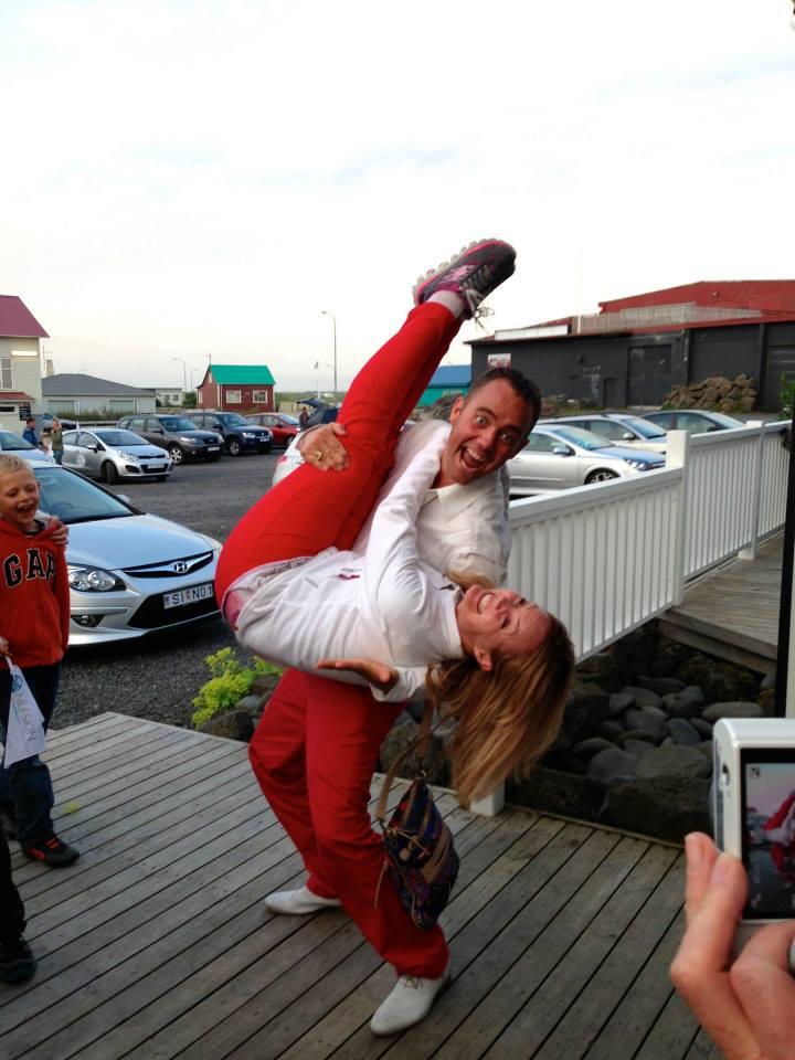 Kristjan and Gudrun making a strange siblings act