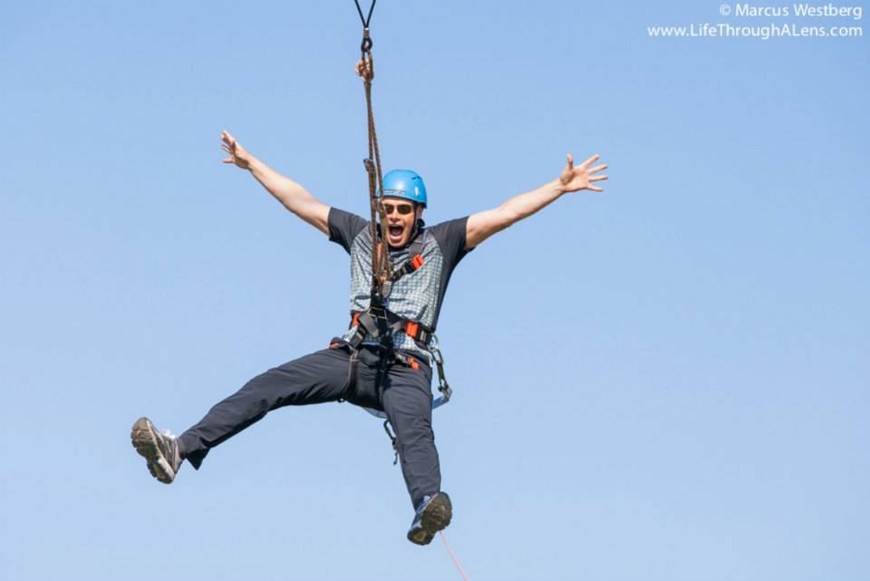 Benedikt flying high in the high swing