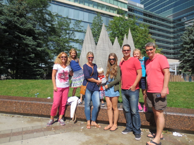 With Lilja, Kjartan and kids in Toronto