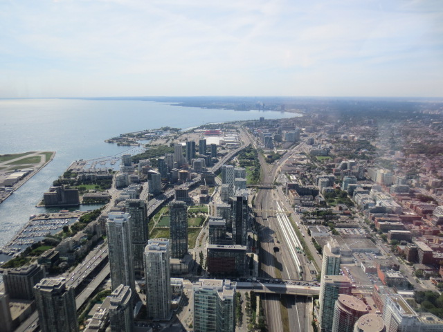 View over Toronto from the CN tower