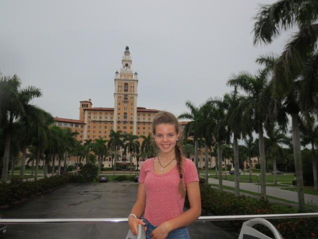 In front of the Biltmore Hotel