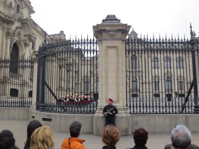 Changing of the guards - we were not allowed very close