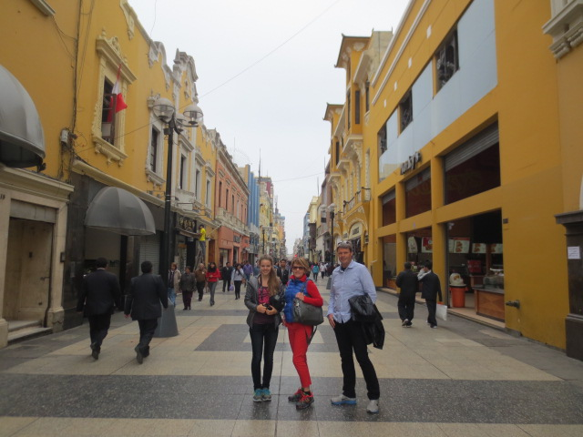 Walking around Lima