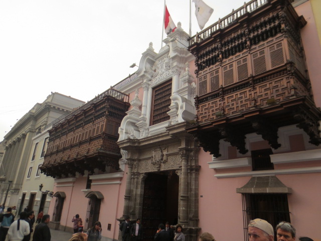 Spectacular Spanish balconies are very visible in Lima