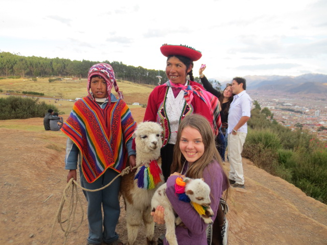 And she got to hold her first Lama