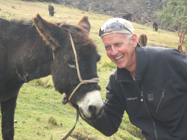 Kristjan found a donkey that he liked