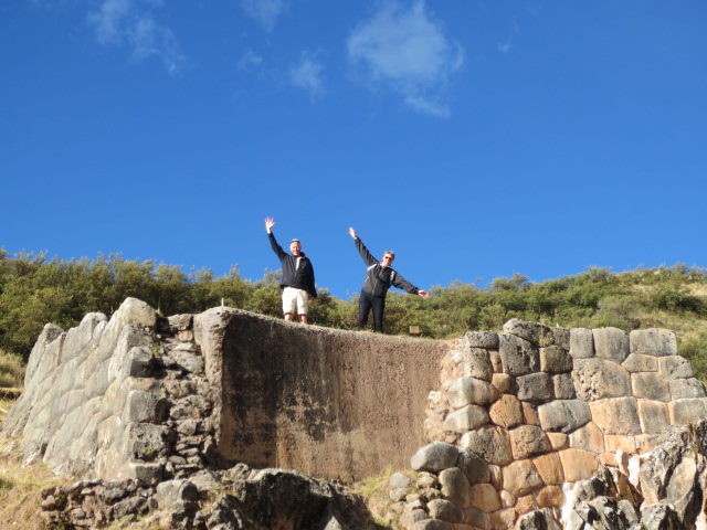 Having fun on Inca ruins