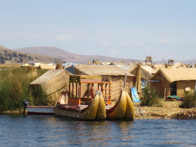 Those boats are made by the islanders and are the main method of transportation