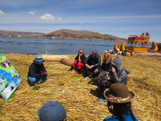 We all sat down to listen to our guide explain first how the people live on the islands