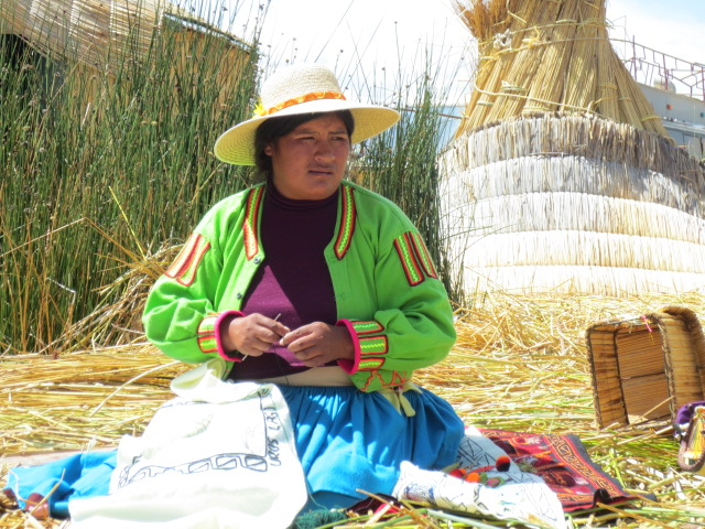 While we learned, one of the women sat and worked on a tapestry while we learned about their customs