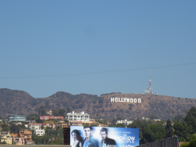 We did not get close to the Hollywood sign this time around