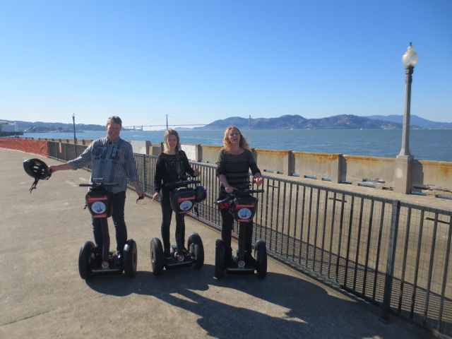 And in front of the Golden Gate bridge - but helmets really should stay on :-)  We promised our guide we would not tell :-)