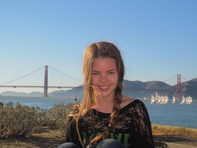 Dora and the Golden Gate bridge